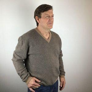 ORVIS V-Neck 100% Cashmere Sweater
